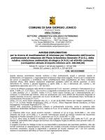 Avviso esplorativo  - Comune di San Giorgio Ionico
