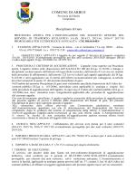 Disciplinare Servizio Trasporto Scolastico 2014