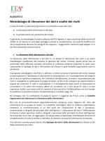 Metodologia di rilevazione dei dati e analisi dei rischi