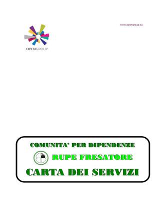 Carta dei servizi Rupe Fresatore