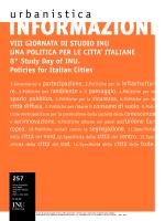 Copertina e indice - Urbanistica informazioni