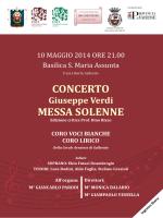 concerto messa solenne - Associazione Culturale Corale Arnatese