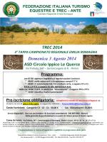 TREC 2014 Domenica 3 Agosto 2014 ASD Circolo Ippico Le Querce