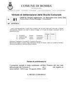Deliberazione di Giunta n. 81 del 02/10/2014. OGGETTO