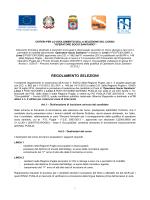 REGOLAMENTO SELEZIONI - Iscrizione Selezioni Corso OSS