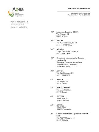 Circolare 1 luglio 2014 n. ACIU.2014.445