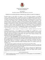 Verbale di aggiudicazione - Comune di Castrofilippo