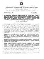 Decreto di riconoscimento in favore del Prof. Eugenio Maria ROVEDA