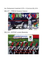 QSL N°1 - IT9ECQ Vincenzo Catania QSL N°2 - IW1PUE