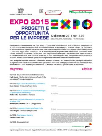 2014 - expo - Unindustria Reggio Emilia