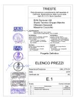 E1 Elenco Prezzi rev1 - Ospedali riuniti di Trieste