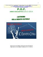 POF anno scolastico 2013 2014 - Istituto Comprensivo J. Sannazzaro