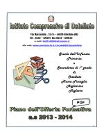 POF 2013-2014 - Istituto Comprensivo di Ostellato