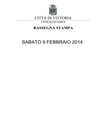 8 Febbraio 2014 - Comune di Vittoria