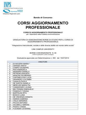 CORSI AGGIORNAMENTO PROFESSIONALE