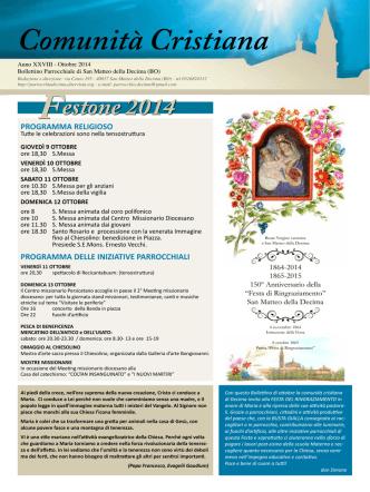 Bollettino Parrocchiale - Ottobre 2014 (pdf)