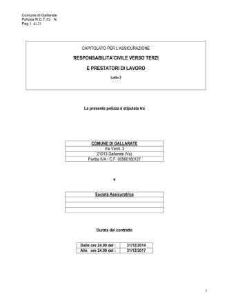 2 - Capitolato RCTO - Comune di Gallarate