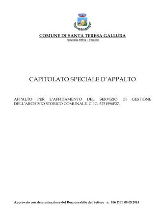 CAPITOLATO_A.S.C. 14 - Comune di Santa Teresa di Gallura