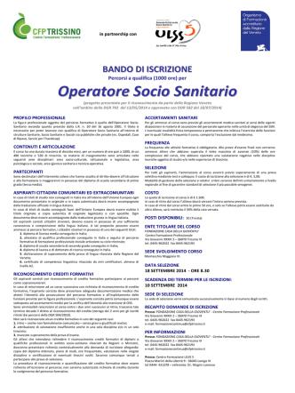 BANDO-OSS-2014 - Fondazione Casa della Gioventщ