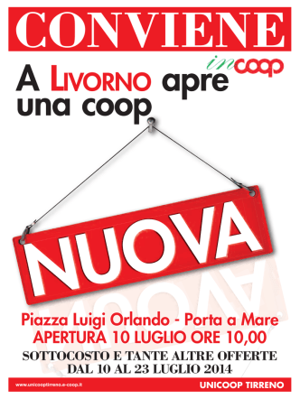 A LIVORNO apre - Unicoop Tirreno