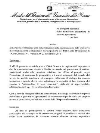Bando MIur pdf - Ufficio Scolastico Regionale per il Veneto