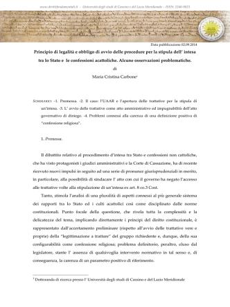 Carbone_principio di legalità e obbligo di avvio delle procedure