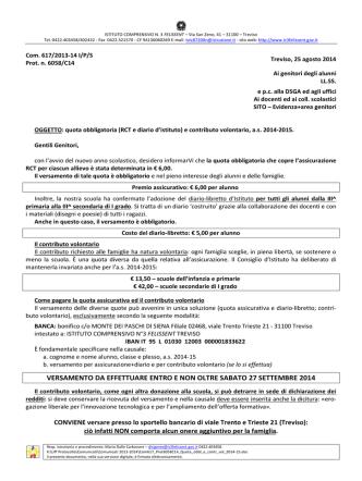 617-Quota obbl. e contr. volontario - Diario 2014-15