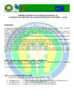 norme generali di partecipazione al campionato molise 2014 ranch