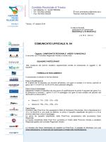 Regolamento campionato - Pallacanestro Olimpia Carbonera