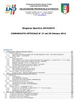 Comunicato n. 21 - Calcio Rubano USDC
