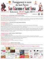Programma Festeggiamenti dei Santi Patroni San