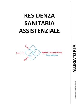 Carta dei servizi RSA Residenza Sanitaria Assistenziale