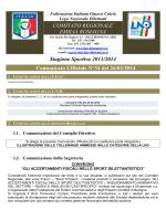 Comunicato Ufficiale N°34 del 26/02/2014