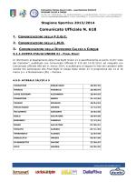 Liste calciatori Società partecipanti alla Final Eight di Coppa Italia
