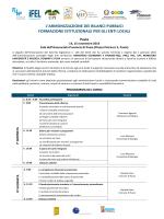 Programma - Fondazione Romagnosi