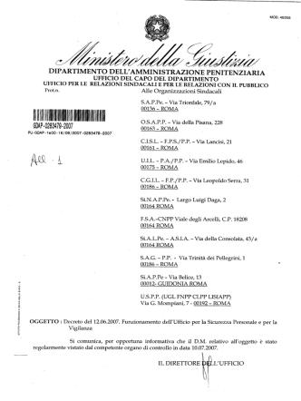 decreto istitutivo USPEV