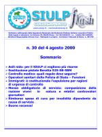 n. 30 del 4 agosto 2000 Sommario
