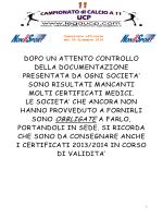 Comunicato ufficiale 11 - 09 dicembre 2014_SACCA