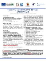 tecnico controllo e tutela ambientale
