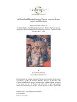 La filosofia di Giorgio Gemisto Pletone