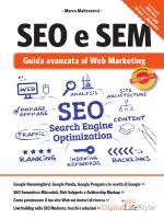 Sommario Libro SEO - SEO e SEM Guida Avanzata al web Marketing
