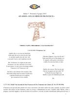 """""""Ad Assisi, sulle orme di Francesco"""" Sabato 7 e Domenica 8"""