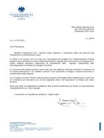 Alla cortese attenzione del Sen. Riccardo Pedrizzi Presidente UCID