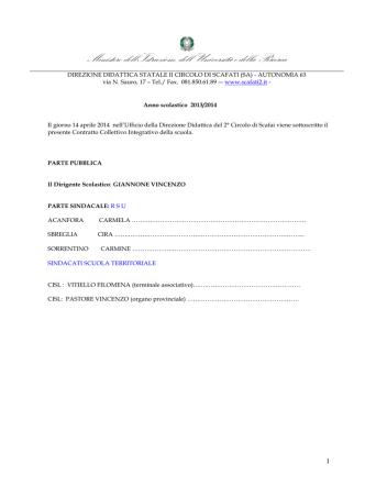 Contrattazione integrativa 2013/14