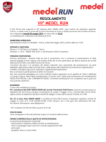 Regolamento Medel Run 2014