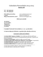 Calendario Parrocchiale 2014-2015