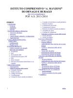 """POF 2013-2014 - Istituto Comprensivo """"A. Manzoni"""" Ornago"""