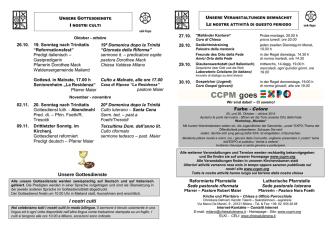 CCPM goes - Chiesa Evangelica Luterana in Italia