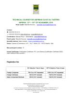 Program of Technical Course - Organizzazione Nazionale