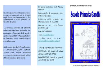 15/12/2014 presentazione scuola m. gandhi